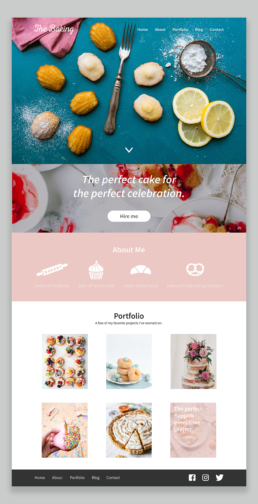 The Bakery Website Design and Layout