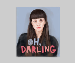 Oh Darling Illustration mockup