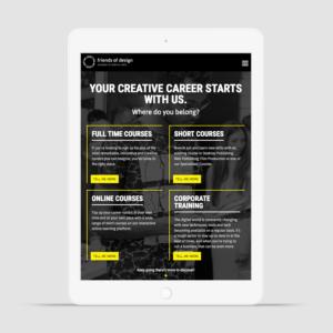 Friends of Design Responsive Website