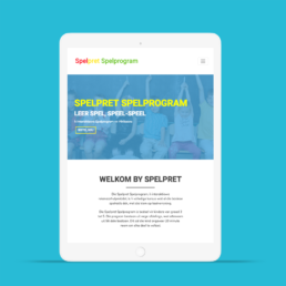 Spelpret Website design and development